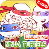 Turtles Coloring Pages for Mutant ninja hero icon