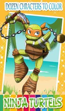 Turtles Coloring Pages for Mutant ninja hero screenshot 6