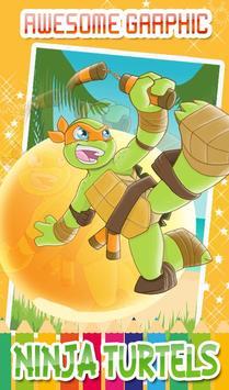 Turtles Coloring Pages for Mutant ninja hero screenshot 14