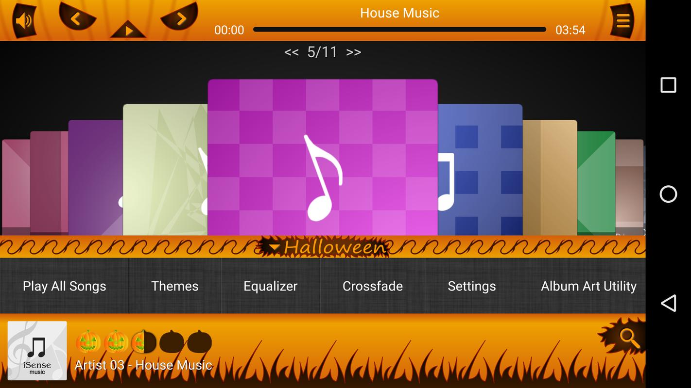 halloween skin - isense music for android - apk download