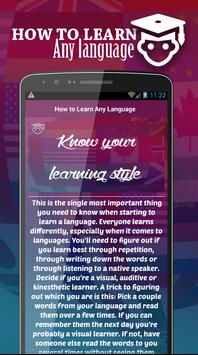 How to Learn Any Language Fast apk screenshot