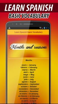 Learn Basic Spanish Vocabulary apk screenshot