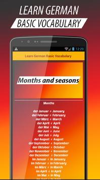 Learn Basic German Vocabulary apk screenshot