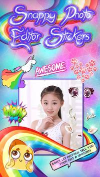 Snappy Photo Editor Stickers poster