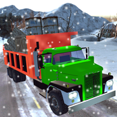 Snowy Mountain Truck Driving icon