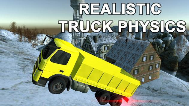 Snowy Mountain Truck Driving poster