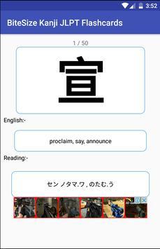 Bite-Sized Kanji Japanese JLPT Flashcards poster