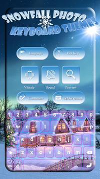 Snowfall Photo Keyboard Themes screenshot 3
