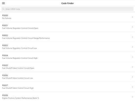 OBD2 Code Finder screenshot 1