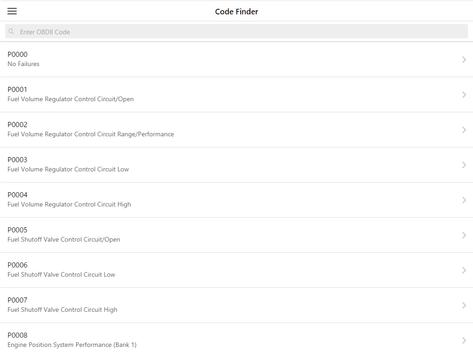 OBD2 Code Finder screenshot 2