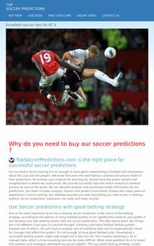 Soccer Predictions apk screenshot