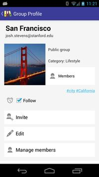 MyGroups apk screenshot