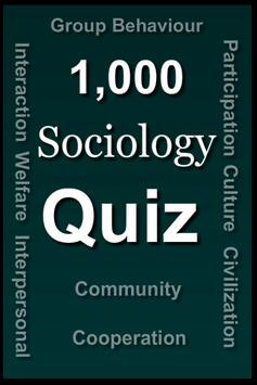 Sociology Quiz poster