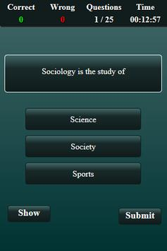 Sociology Quiz screenshot 15