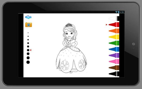 Sofia Princess Coloring Book apk screenshot