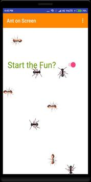 (No Ads) Ants on Phone Screen Real Fun poster