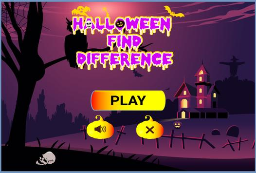 Halloween Find Difference poster