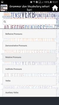 Grammar dan Vocabulary sehari hari screenshot 14