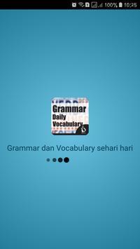 Grammar dan Vocabulary sehari hari screenshot 1