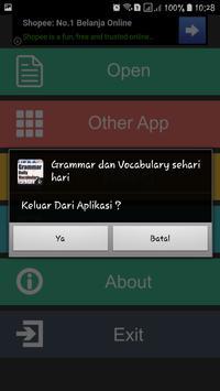 Grammar dan Vocabulary sehari hari screenshot 7
