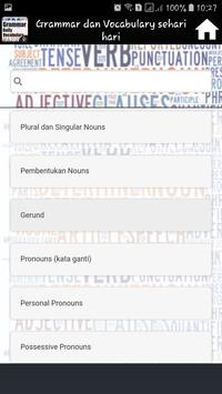 Grammar dan Vocabulary sehari hari screenshot 4