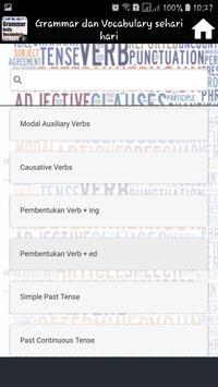 Grammar dan Vocabulary sehari hari screenshot 9