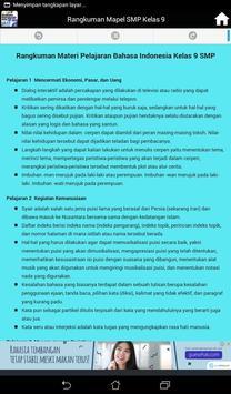 Rangkuman Semua Mata Pelajaran Kelas 9 SMP / MTS screenshot 10