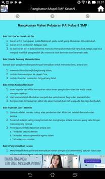 Rangkuman Semua Mata Pelajaran Kelas 9 SMP / MTS screenshot 3