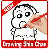 learn drawing Shin Chan icon