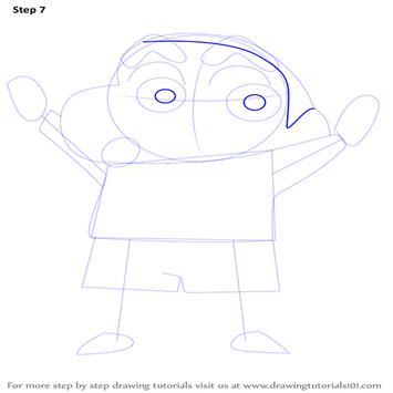 learn drawing Shin Chan screenshot 3