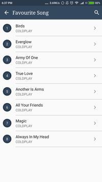 Hit COLDPLAY Album Songs Lyrics screenshot 3