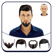 Man Hair Mustache Style icon