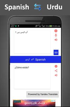 traducir español al urdu poster