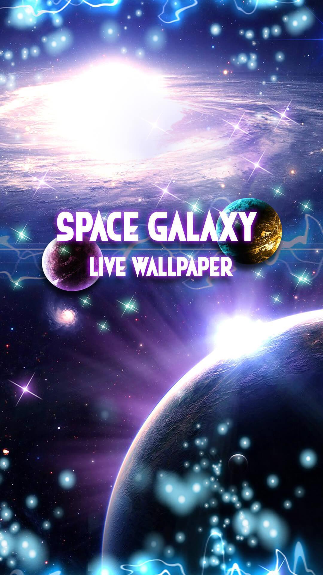 Android 用の 銀河 背景 ライブ壁紙 宇宙 動く壁紙 アニメ Apk を