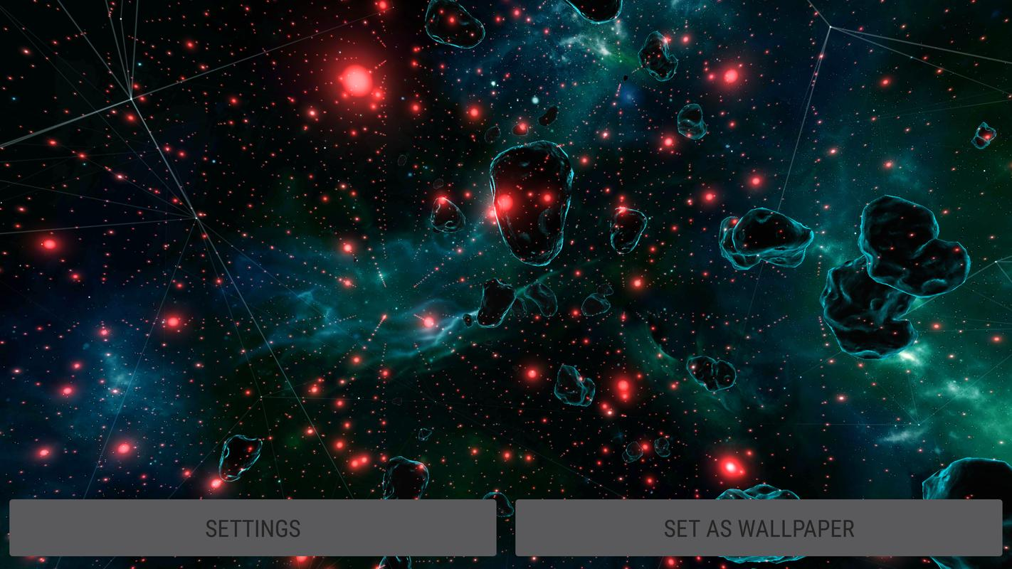 Gyro Space Particles 3D Live Wallpaper For Android