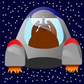 Space walrus icon