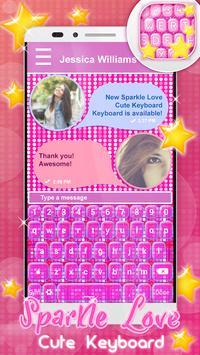 Sparkle Love Cute Keyboard apk screenshot