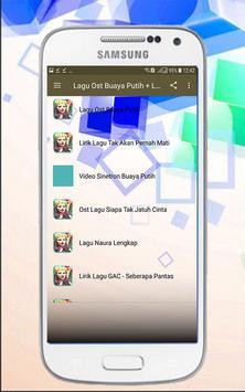 Lagu Ost Buaya Putih + Lirik screenshot 1