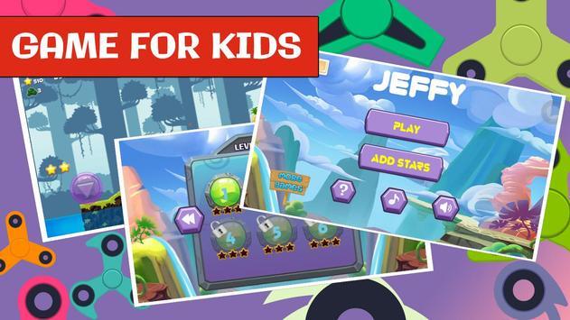 Jeffy Puppet for Fidget spinner SML kids game screenshot 2