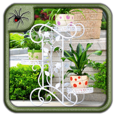 Metal Garden Decor Design icon