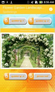Flower Garden Landscaping Design poster