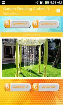 Garden Wedding Arches Design poster