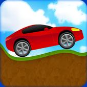 sport car mountain game icon