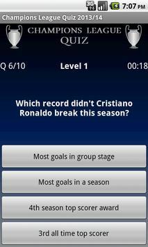 Champions League Quiz 2013/14 apk screenshot