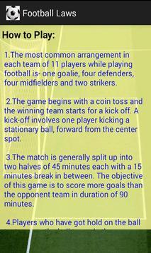 Football  Laws screenshot 2