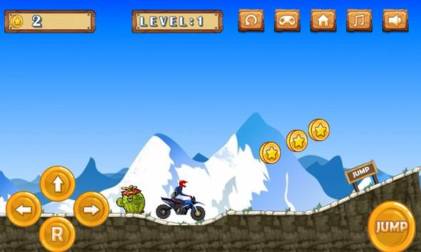 Hill Climb Sport Motorcycle In Wild Everest poster