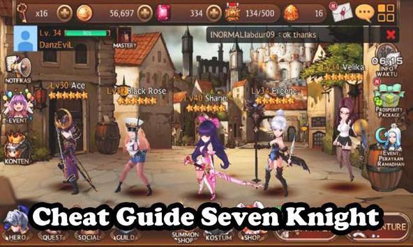 Cheats Guide Seven Knight 2016 screenshot 1