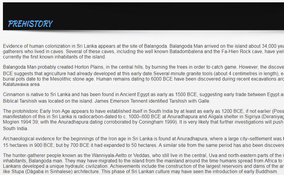 History of Sri Lanka apk screenshot