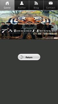 Novel 7 Manusia Harimau poster