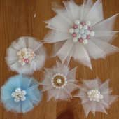 Tulle Flowers DIY icon